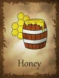 Illustration av honung i tecknad filmstil vektor illustrationer
