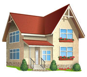 Illustration av huset Arkivbild