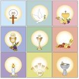 Religionsymboler royaltyfri illustrationer