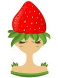 Illustration av jordgubbeteckenet Arkivfoton