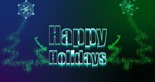 Illustration av jul som hälsar med det lyckliga feriemeddelandet