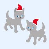 Illustration av katter för nytt år Royaltyfri Bild