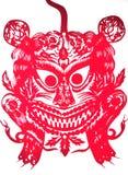 Illustration av kinesen papper-klippte Royaltyfria Bilder