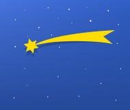 Illustration av komet och stjärnor Arkivfoton