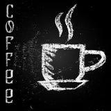 Illustration av koppen på en svart tavla Arkivfoto