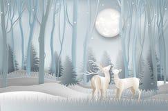 Illustration av kort för hälsning för dag för glad jul och för nytt år c stock illustrationer