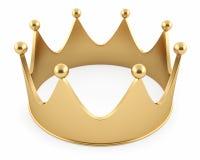 Illustration av kronan från guld Royaltyfri Fotografi