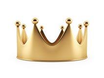 Illustration av kronan från guld Royaltyfria Foton