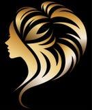 Illustration av kvinnakontursymbolen stock illustrationer