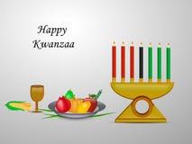 Illustration av Kwanzaa bakgrund Arkivbild