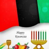 Illustration av Kwanzaa bakgrund Royaltyfri Bild