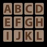 Illustration av A-L för alfabetiska tecken Arkivbild