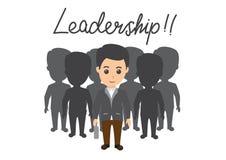Illustration av ledarskap Illustration av en plan designstil med utseendet av manligt leda f vektor illustrationer
