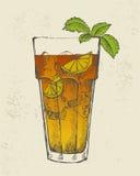 Illustration av Long Islandtecoctailen. Royaltyfri Fotografi