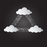 Illustration av moln som beräknar service royaltyfri illustrationer