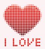 Illustration av mosaikhjärta på den rosa bakgrunden stock illustrationer