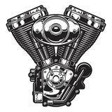 Illustration av motorcykelmotorn Royaltyfri Fotografi