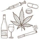 Illustration av narkotiskt preparat Arkivbild