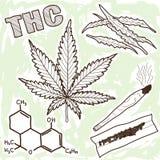 Illustration av narkotiskt preparat - marijuana Fotografering för Bildbyråer