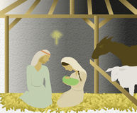 Illustration av nativity Arkivbilder