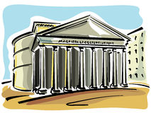 Rome (Pantheon) stock illustrationer