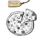 Illustration av pizza Royaltyfri Fotografi