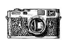 Illustration av rangefinderkameran Fotografering för Bildbyråer