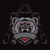 Illustration av raseribjörnhuvudet Fotografering för Bildbyråer