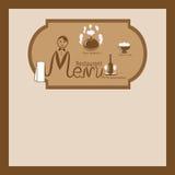Illustration av restaurangmenyn Royaltyfria Bilder