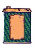 Illustration av retro förpacka Royaltyfria Bilder