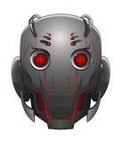 Illustration av robothuvudet vektor illustrationer