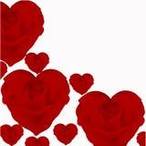 Illustration av rosor i form av hjärta royaltyfri illustrationer