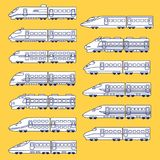 Illustration av Shinkansenen, Royaltyfri Bild