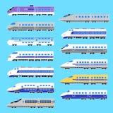 Illustration av Shinkansenen, Arkivbild