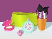 Illustration av skönhetsmedel och doft Arkivfoton
