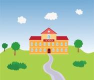 Illustration av skolabyggnad royaltyfri illustrationer