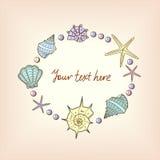 Illustration av snäckskalen Royaltyfri Fotografi