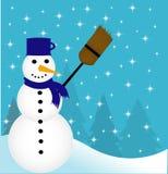 Illustration av snowmanen Royaltyfria Bilder