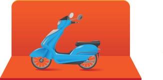 Illustration av sparkcykeln/mopeden Royaltyfri Bild