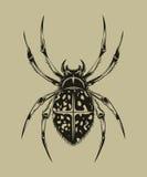 Illustration av spindeln arkivbilder