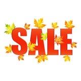 Illustration av säsongsbetonade försäljningar för höst Royaltyfria Bilder