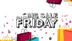 Illustration av stor bakgrund för försäljningsBlack Friday hälsning Royaltyfri Foto