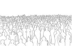 Illustration av stor mass av folk i perspektiv vektor illustrationer