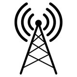 Illustration av symbolet för radioantenn vektor illustrationer
