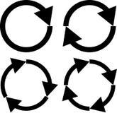 Illustration av symbolsuppsättningen för fyra pil Royaltyfri Bild