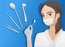 Illustration av tandläkaren royaltyfri illustrationer