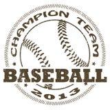 Baseballetikett Royaltyfri Bild