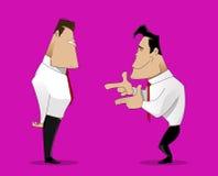Illustration av tecknade filmen som skrattar affärsmannen Royaltyfri Foto