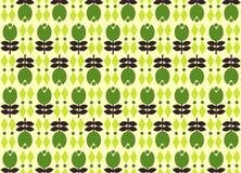 Illustration av trädmodellen på grön bakgrund vektor illustrationer