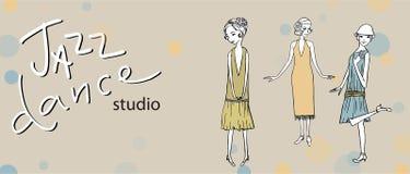 Illustration av tre flickor royaltyfri illustrationer